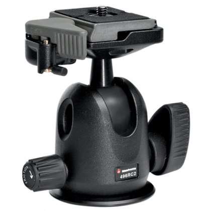 Manfrotto 496RC2 Compact Ball Head with RC2 quick release plate
