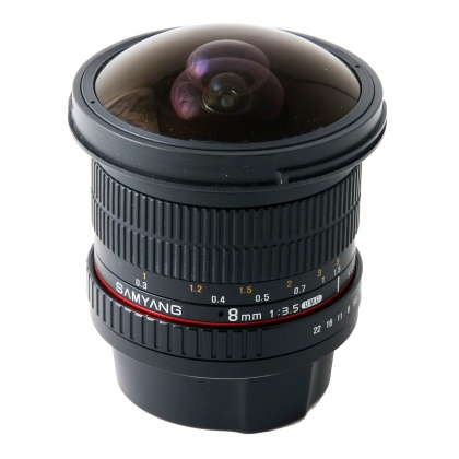 Used Samyang 8mm f3.5 CSII Fisheye for Canon EOS