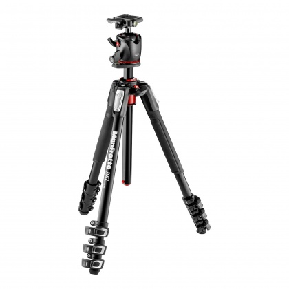 Manfrotto 190 Xpro Aluminum 4-Section Tripod with BHQ2 Ball Head and case