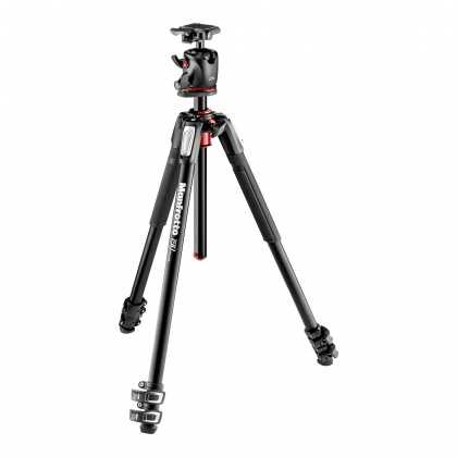 Manfrotto 190 Xpro Aluminum 3-Section Tripod with BHQ2 Ball Head and case