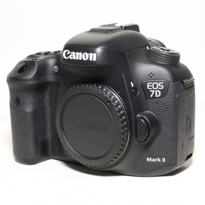 Used Canon EOS 7D Mk II body with W-E1 adpater