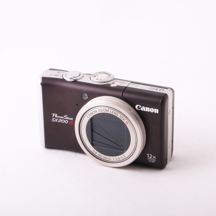 Used Canon Powershot SX200 IS, dark brown