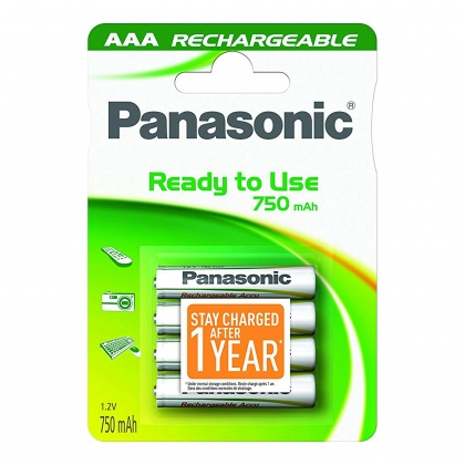 Panasonic Evolta AAA NiMh Rechargeable Batteries 750mAh x4