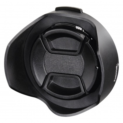 Hama Lens Hood with Lens Cap, universal, 55 mm