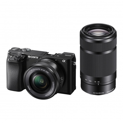 Sony Alpha 6100 Mirrorless Camera with 16-50mm and 55-210mm Lenses