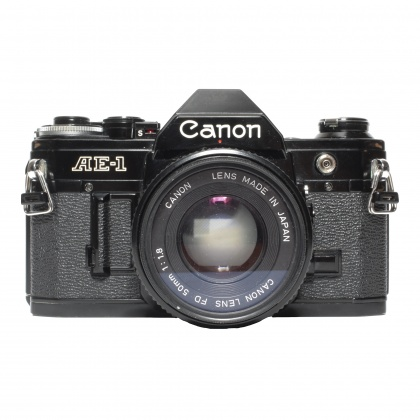 Used Canon AE-1 with 50mm f1.8, black