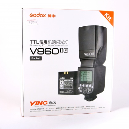 Used Godox V860 Mk II for Fujifilm