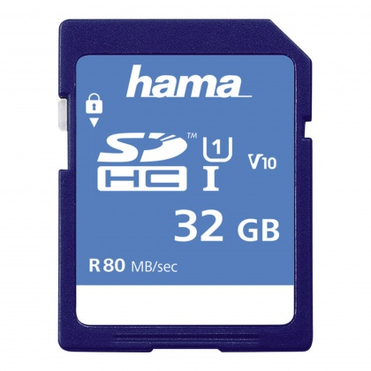Hama SDHC Card, 32gb UHS-I 80mb/sec