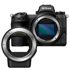 Nikon Z 6II body with FTZ mount adapter