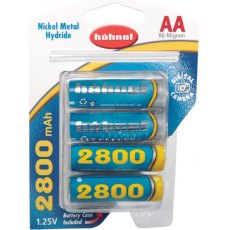 Hahnel P6D (AA) Ni MH 2800 Mah battery x4