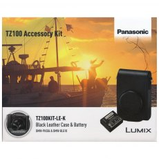 Panasonic TZ100 black leather case and battery