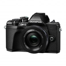 Olympus OM-D E-M10 Mark III Camera with 14-42mm EZ Lens, silver