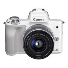 Canon EOS M50 Camera with 15-45mm lens, White