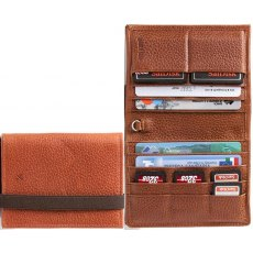 Barber Shop Pixie Leather Organiser Dark Brown Leather