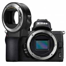 Nikon Z 50 Mirrorless Camera Body with FTZ mount adapter