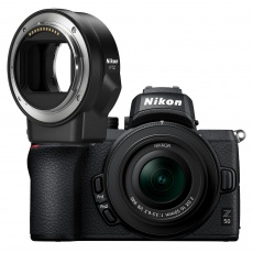 Nikon Z 50 Mirrorless Camera with 16-50mm f3.5-6.3 VR lens & FTZ mount adapter