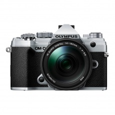 Olympus E-M5 Mark III Mirrorless Camera with 14-150mm lens, Silver