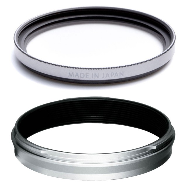 Fujifilm Fujifilm Weather-Resistant Adaptor Ring and Protector Filter for X100V, Silver