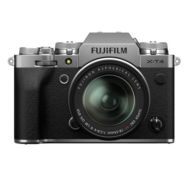 Fujifilm Fujifilm X-T4 Mirrorless Camera, Silver with 18-55mm Lens