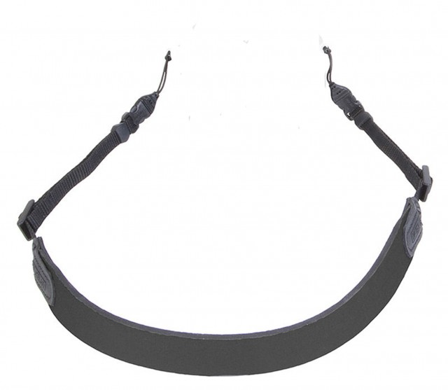 OpTech OpTech Bin/Op Strap, 1/4in webbing with quick release, black