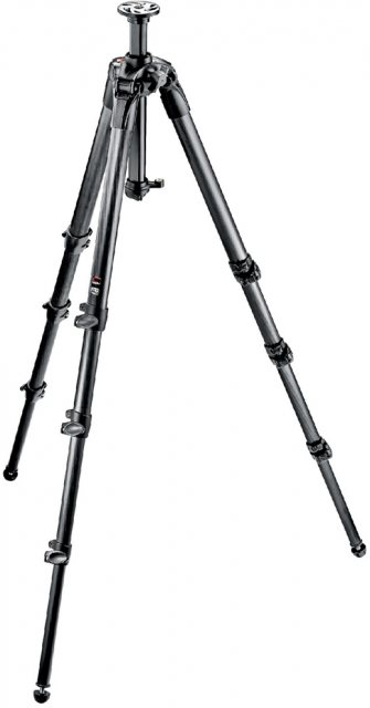 Manfrotto Manfrotto 057 Carbon Fibre Tripod 4 Section tall with rapid column