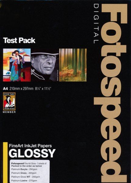 Fotospeed Fotospeed Test Pack Gloss-Fine Art Paper, Mixed, A4 x 9