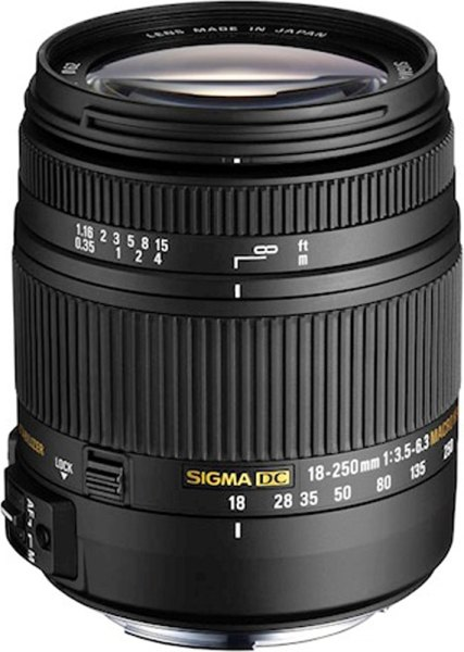 Sigma Sigma 18-250mm f3.5-6.3 DC Macro OS HSM lens for Canon EOS