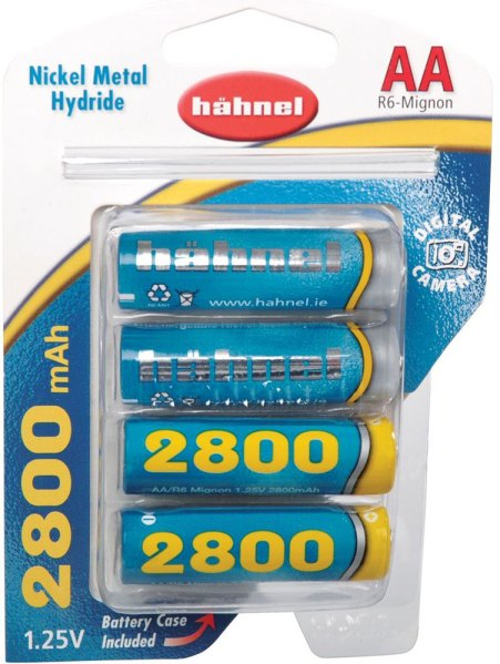 Hahnel Hahnel P6D (AA) Ni MH 2800 Mah battery x4