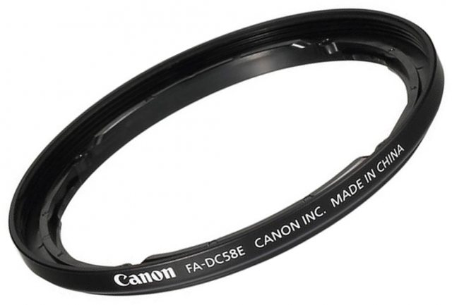 Canon Canon 58mm filter adapter, FA-DC58E