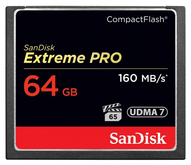 Sandisk Sandisk High-Speed Compact Flash Extreme PRO 64gb, 1000x, 160Mb/s