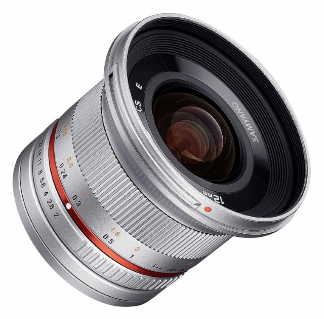 Samyang Samyang 12mm f2.0 Wide angle lens for Micro Four Thirds, Silver