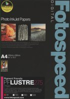 Fotospeed Fotospeed PF Lustre Paper, 275gsm, A4 - 50 sheets