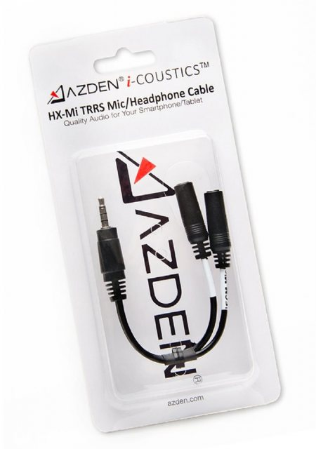 Azden Azden HX-Mi TRRS Microphone/Headphone splitter cable