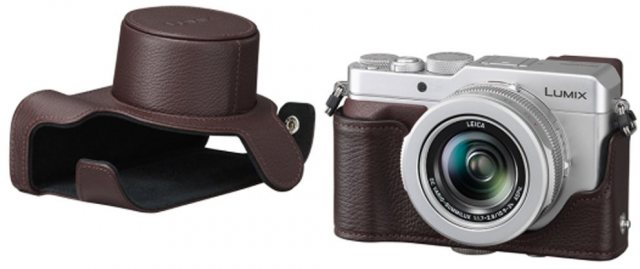 Lumix Panasonic DMW-CLX100 Brown Leather case
