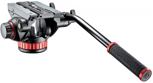 Manfrotto Manfrotto MVH502AH Fluid Video Head With Flat Base