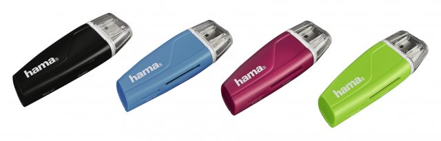 Hama Hama USB 2 Card reader SD, Micro SD assorted colours