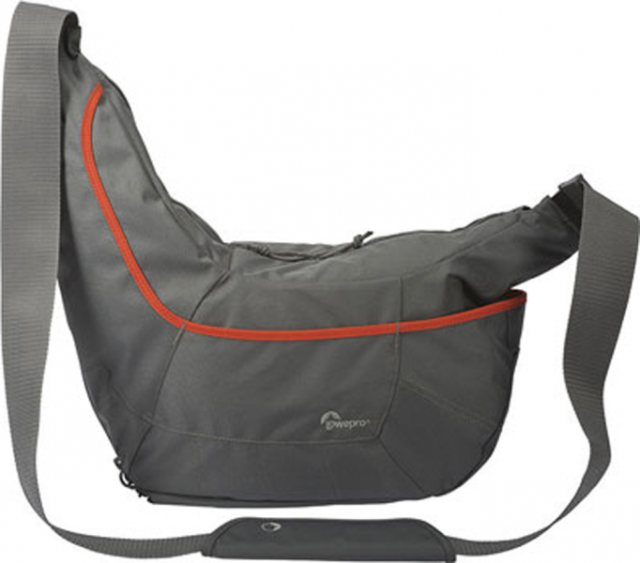 Lowepro Lowepro Passport Sling III shoulder bag, Grey with Orange stripe