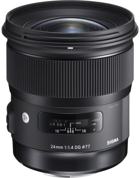 Sigma Sigma 24mm f1.4 DG HSM Art lens for Canon EOS