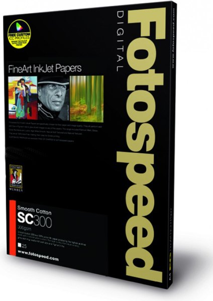 Fotospeed Fotospeed Smooth Cotton Paper, 300gsm, 210x594mm x 25