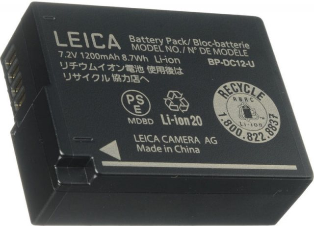 Leica Leica Lithium-Ion Battery BP-DC12 for Leica Q