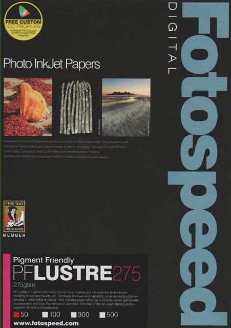 Fotospeed Fotospeed PF Lustre, 275gsm, A3 - 50 sheets