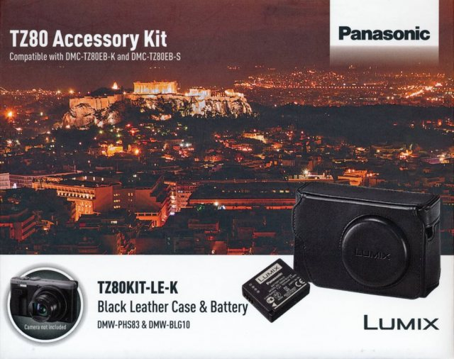 Panasonic Panasonic TZ80 black leather case and battery