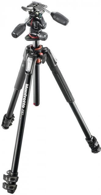 Manfrotto Manfrotto MK190XPRO3-3W Aluminium 3-Section Tripod With 3-Way Head