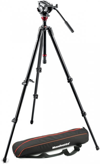 Manfrotto Manfrotto MVH500AH,755XBK Fluid Head with MDeVe Aluminium tripod
