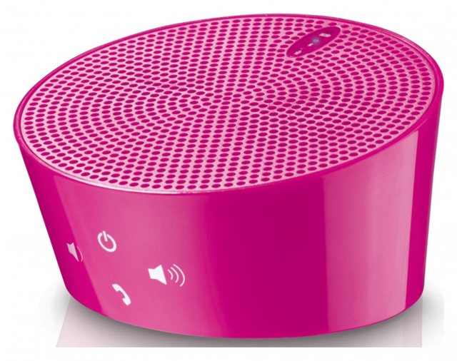 Sundry Aves Aqua Bluetooth speaker with microphone, Pink