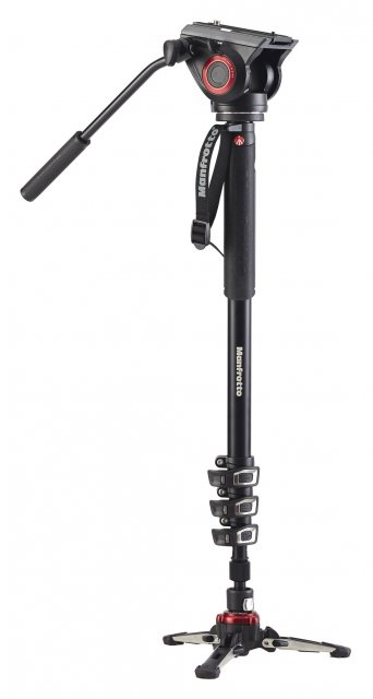 Manfrotto Manfrotto XPRO500 Video Monopod with Video Head and Fluidtech Base