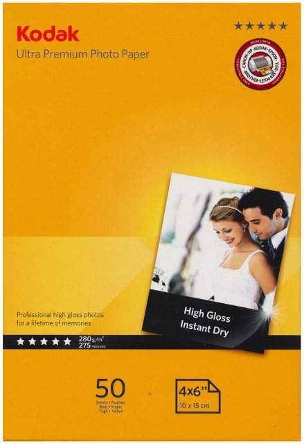 Kodak Kodak Gloss Ultra Premium Paper,4x6in, 50 sheets