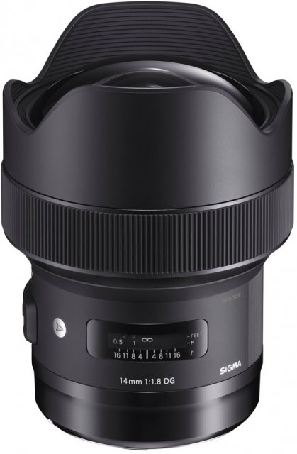 Sigma Sigma 14mm F1.8 DG HSM Art lens for Canon