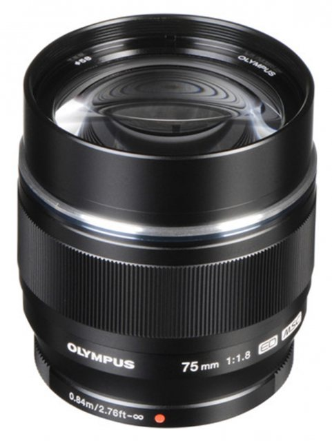 Olympus Olympus M.ZUIKO DIGITAL ED 75mm f1.8 Lens, black