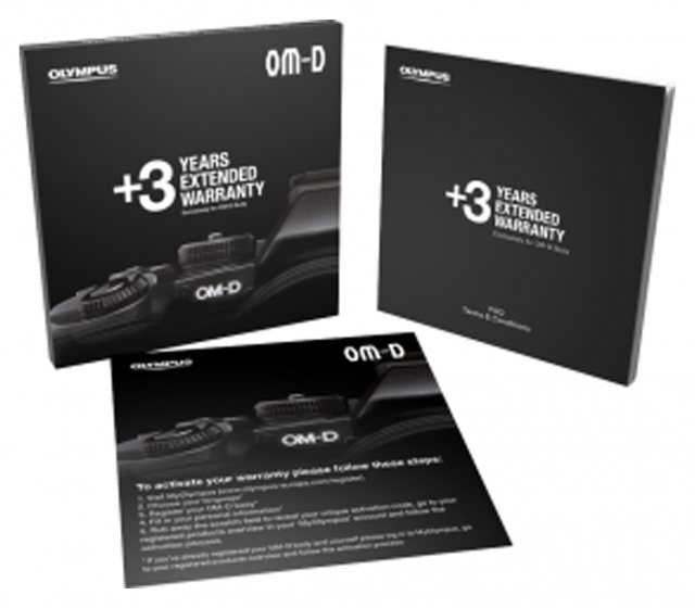 Olympus Olympus Three Years Extended Warranty Card - OM-D